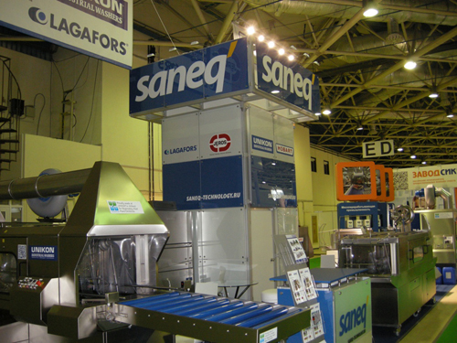 Lagafors russischer Händler Saneq Technology stellt auf der Messe Agroprodmash 2012 aus